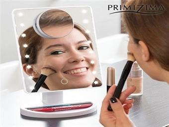 Espelho de Mesa com Luzes LED e Aumento para se Maquilhar, Pentear, Depilar, etc. por 23€. PORTES INCLUÍDOS.