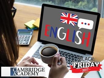 BLACK FRIDAY: Curso de Inglês Online de 6 a 18 Meses no CAMBRIDGE ACADEMY com CERTIFICADO desde 16€. Domine a língua universal.