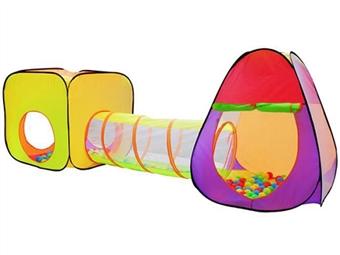 Tenda de Brincar Iglo com Túnel, Cubo e 200 Bolas por 35€. PORTES INCLUÍDOS.