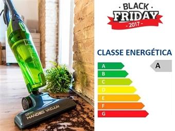 BLACK FRIDAY: Aspirador Ciclónico 2 em 1 sem Saco de 800W: Opção Vassoura ou Mão com Eficiência Energética Classe A por 29€. VER VIDEO. PORTES INCLUÍDOS.