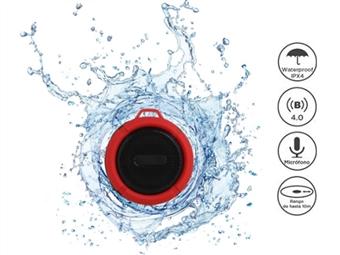 Coluna Portátil de 5W Impermeável com Bluetooth até 10m, Rádio FM, Microfone e Mãos-livres por 23.50€. Ouve a tua música no banho! PORTES INCLUÍDOS.