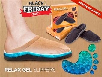 BLACK FRIDAY: Chinelos Anti-Fadiga de Sola com Gel. 2 Cores e 3 Tamanhos à escolha. Ande com os pés quentinhos nas nuvens por 12.90€. PORTES INCLUÍDOS.