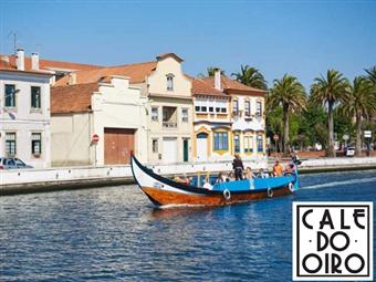 """CALE DO OIRO: 2 Noites com Pequeno-Almoço. Cruzeiro em barco típico """"Moliceiro"""" e  Visita às Salinas por 84€. Venha Experimentar."""