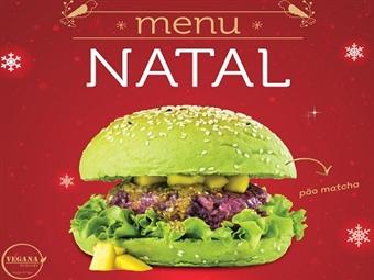 ESPECIAL NATAL para 2 Pessoas: Hambúrguer Vegan, Acompanhamento, Bebida, Café e Bolo Princesa em 3 Restaurantes à sua escolha e SEM RESERVA por 14.90€.