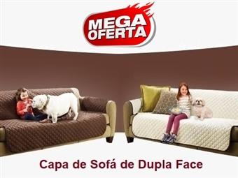 MEGA OFERTA: Capa de Sofá Dupla Face (Castanho e Bege) desde 20€. Ideal para quem tem Crianças e ou Animais. PORTES INCLUIDOS.