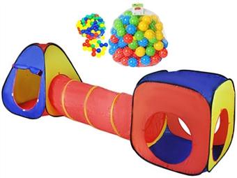 Tenda de Brincar Iglo com Túnel, Cubo e 200 Bolas por 45€. PORTES INCLUÍDOS.