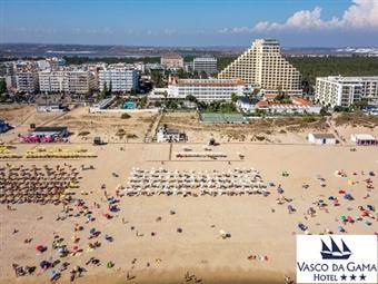 Hotel Vasco da Gama: 3 ou 5 Noites em Monte Gordo com opção Meia-Pensão desde 112€. Uma escapada em frente ao mar para recuperar energias.