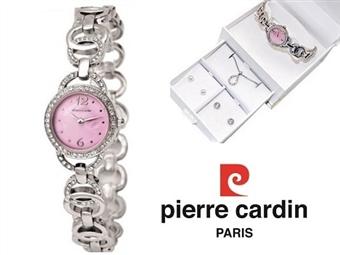 Conjunto Pierre Cardin Cristals Pink com Relógio, Colar e 2 Pares de Brincos por 39€. PORTES INCLUÍDOS.