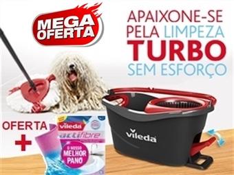 MEGA OFERTA da VILEDA = Easy Wring & Clean TURBO: Balde com Pedal + Esfregona + 2 Panos ACTIFIBRE por 35€. ENVIO IMEDIATO e PORTES INCLUIDOS.