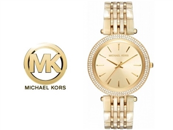 Relógio de Pulso Michael Kors Darci Glitz Gold por 153€. Um presente para um amor atemporal. PORTES INCLUÍDOS.