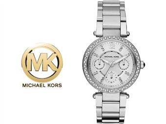Relógio de Pulso Michael Kors Mini Parker Silver por 135€. Um presente para um amor atemporal. PORTES INCLUÍDOS.