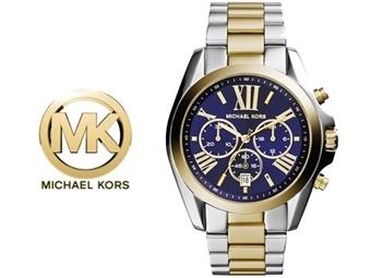 Relógio de Pulso Michael Kors Bradshaw Chronograph Blue por 153€. Um presente para um amor atemporal. PORTES INCLUÍDOS.