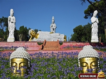 Hotel Água D'Alma & Buddha Eden: 1 Entrada do Jardim e 1 ou 2 Noites na Foz do Arelho junto à Lagoa de Óbidos desde 34.50€. Conheça o enorme jardim da Paz!