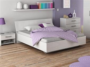 Cama de Casal, 2 Mesas de Cabeceira e Cómoda em Branco por 475€. Um design francês para um ambiente com glamour para o seu quarto. PORTES INCLUÍDOS.