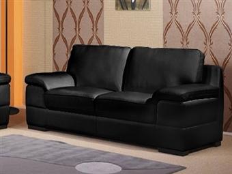 Sofá de 3 Lugares em Pele Sintética com 2 Cores à Escolha por 645€. Um design versátil e confortável para sua sala. PORTES INCLUÍDOS.