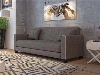 Sofá-Cama de 2 Lugares em Tecido com 2 Cores à Escolha por 255€. Um design minimalista e descontraído para sua sala. PORTES INCLUÍDOS.