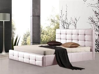 Cama de Casal em Pele Sintética Branco-Rosa com 3 Tamanhos à Escolha desde 245€. Um design harmonioso e confortável para o seu quarto. PORTES INCLUÍDOS.