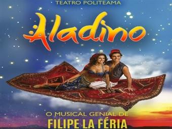 ALADINO - O MUSICAL GENIAL de Filipe La Féria no Teatro Politeama em Lisboa desde 10€. Venha assistir!