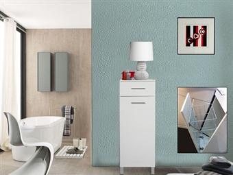 Armário de 1 Porta e 1 Gaveta em Branco por 132€. Uma opção harmoniosa para que tenha mais espaço de arrumação em sua casa. PORTES INCLUÍDOS.