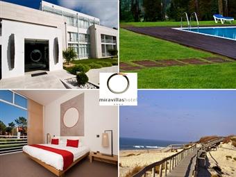 MIRAVILLAS HOTEL 4*: Estadia 1 Noite na Praia de Mira com Pequeno-almoço, Opção de Jantar, Acesso à Piscina e ao Court de Ténis desde 33€.