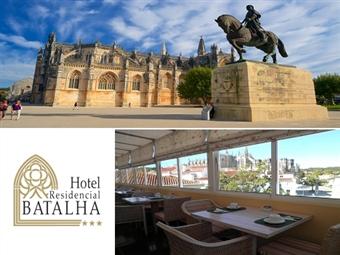 Hotel Residencial Batalha: Estadia com Pequeno-Almoço no Centro da Vila por 20€. Faça uma Escapada com História e Romance.