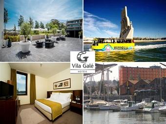 Vila Galé Ópera 4*: Faça uma escapada em Lisboa com 1 Noite e Circuito Turístico num Anfíbio desde 93€. Conheça a Cidade por terra e água.