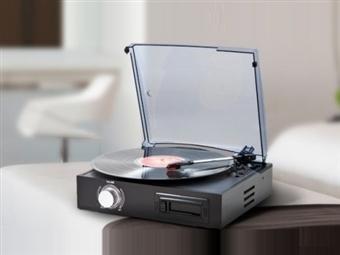 Gira-discos Conversor USB: Reproduz e Converte Vinis e Cassetes em MP3 por USB com Colunas Integradas e Agulha de Cerâmica por 49.90€. PORTES INCLUÍDOS.