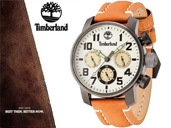 Relógio de Pulso TIMBERLAND Mascoma II Chronograph Cream por 80€. O presente ideal para o Homem que gosta da Natureza. PORTES INCLUÍDOS.
