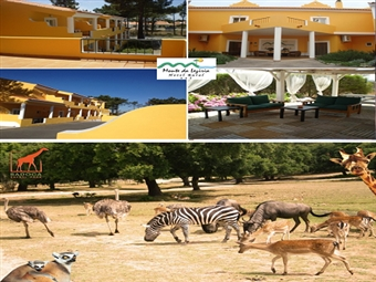 Hotel Rural Monte da Lezíria: Até 2 Noites com Pequeno-almoço e Visita ao BADOCA SAFARI PARK desde 50€. Diversão em Família!