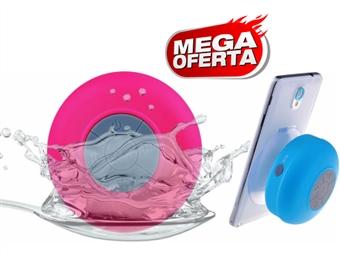 MEGA OFERTA: Coluna Bluetooth à Prova de Água com 5 Cores. Não deixe de ouvir música e falar ao telefone enquanto toma banho por 15€. PORTES INCLUÍDOS.