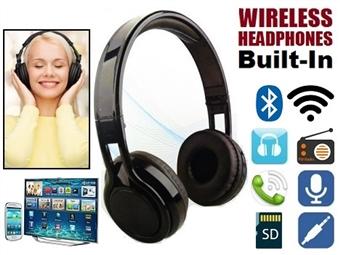 Auscultador sem Fios Bluetooth para Smartphone, Tablet, PC e TV com MP3, Rádio FM e Microfone Incorporado para Chamadas por 22€. PORTES INCLUÍDOS.