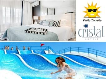 Hotel Cristal Marinha 3*: 3 Noites em MEIA PENSÃO, entrada no Parque Aquático e CRIANÇA GRÁTIS por 199€. Desfrute do Verão de Leiria na melhor companhia!