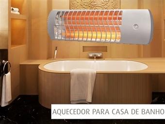 Aquecedor WC de Quartzo de Parede com 3 Níveis de Aquecimento: Calor quase Imediato sem Tubos ou Obras e Fácil de Instalar por 26€. PORTES INCLUÍDOS.