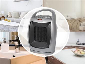 Aquecedor Cerâmico Elétrico Portátil de 1500W com 2 Níveis de Aquecimento: Ar Morno ou Ar Quente, Opção de Vetilação e Oscilação por 26€. PORTES INCLUÍDOS.