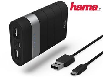 Powerbank Joy by Hama até 20000 mAh com 2 Saidas de USB para carregar 2 dispositivos simultáneamente desde 19€. PORTES INCLUÍDOS.