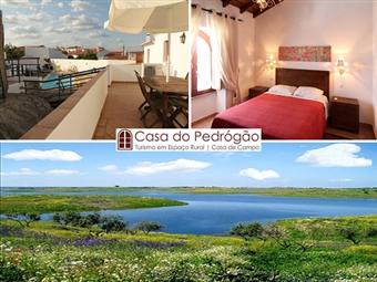 Casa de Pedrógão: Estadia de 2 Noites com pequeno-almoço junto à Barragem do ALQUEVA na aldeia ribeirinha de Pedrogão por 39.50€. Aqui tudo é perfeito!