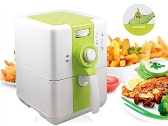 Fritadeira Ecológica sem Óleo para 2L por 64€. Cozinhe 3 vezes mais rápido com 80% menos gordura e poupe até 60% em energia. PORTES INCLUÍDOS.