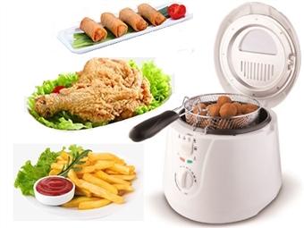 Fritadeira Convencional de 1800W para 2L por 29.99€. Prática, rápida e fácil de usar para os seus preparados do dia-a-dia. PORTES INCLUÍDOS.