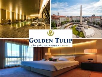 Hotel Golden Tulip São João da Madeira 4*: Estadia de 1 Noite com Pequeno-almoço, Opção de Jantar e acesso à Piscina desde 33€. Aproveite o momento!