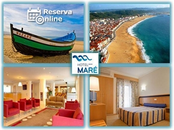 Hotel Maré 3*: Estadia 1 Noite na Nazaré junto à praia com Pequeno-almoço e oferta de Miminhos de Portugal desde 26€. RESERVA ONLINE.