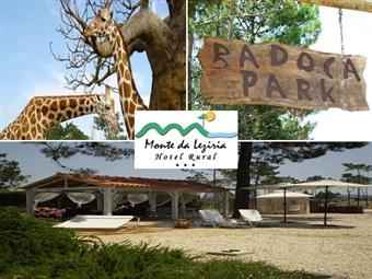 Hotel Rural Monte da Lezíria 3*: Até 2 Noites com Pequeno-almoço e Visita ao BADOCA SAFARI PARK desde 53.50€. Diversão em Família!