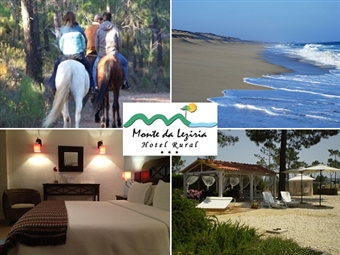 Hotel Rural Monte da Lezíria 3*: Estadia 1 ou 2 Noites com Pequeno-Almoço e Passeio a Cavalo em Reserva Natural desde 31.50€. Descubra a Costa Vicentina!