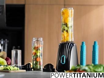 Liquidificadora de Sumos e Batidos: 2 Copos Portáteis de 600ml com Refrigeradores para a Bebida e Picadora de 300ml por 33€. VER VIDEO. PORTES INCLUÍDOS.