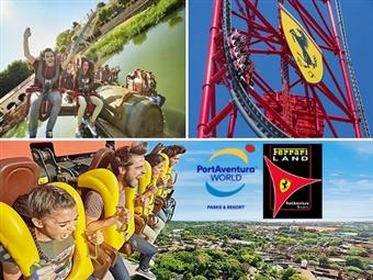 RÉVEILLON PortAventura World + Ferrari Land: Voos de Lisboa ou Porto, 3 Noites em Hotel 4*, Jantar de Fim de Ano, Transferes e Seguro desde 625€.