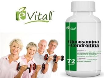 Glucosamina e Condroitina da e-Vitall: Frasco de 72 Cápsulas para 24 Dias desde 16€. Mantém as ARTICULAÇÕES SAUDÁVEIS. ENVIO IMEDIATO e PORTES INCLUÍDOS.