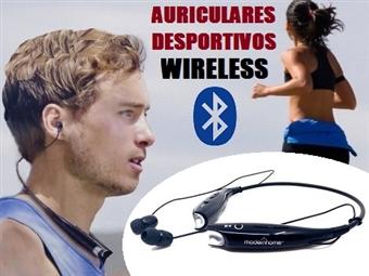 Auriculares Desportivos Bluetooth sem Fios com Microfone por 22€. Agora pode ouvir a sua música e receber chamadas telefónicas. PORTES INCLUÍDOS.