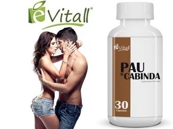 Pau D'Cabinda da é-Vitall: Frasco de 30 Cápsulas para 7 Dias desde 9.50€. Melhora a VIDA SEXUAL em ambos os sexos. ENVIO IMEDIATO e PORTES INCLUÍDOS.