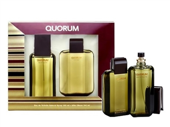Coffret ANTONIO PUIG QUORUM para Homem: Eau de Toilette de 100ml e After-Shave de 100ml por 28€. PORTES INCLUÍDOS.