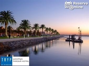 TRYP Montijo Parque Hotel 4*: Apaixone-se junto ao Rio Tejo com Pequeno-almoço, Jantar e Tratamento VIP Quarto desde 34.95€. RESERVA ONLINE.