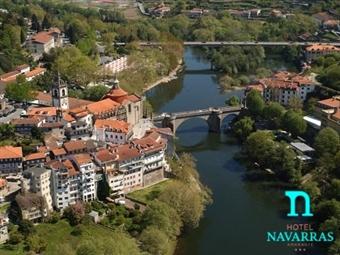 Hotel Navarras 3*: Estadia 1 Noite com Pequeno-almoço entre a Beleza das Montanhas e o Rio Tâmega desde 28€ em Amarante. Desfrute da beleza natural!